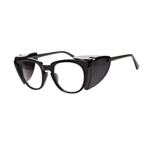 The RX-70-PC prescription safety glasses is an economical frame that comes in transparent black.