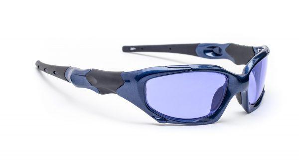 Model 1205, Plastic Glassworking Safety Glasses, Polycarbonate Sodium Flare, Blue, #GB-SFP-1205