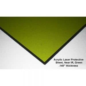ALS-YAG Near IR Acrylic Laser Sheet