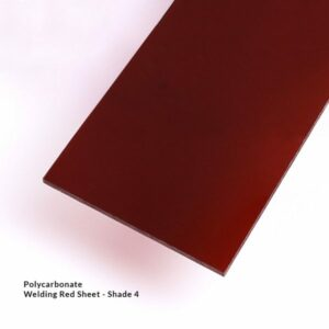 Red Polycarbonate Welding Sheet